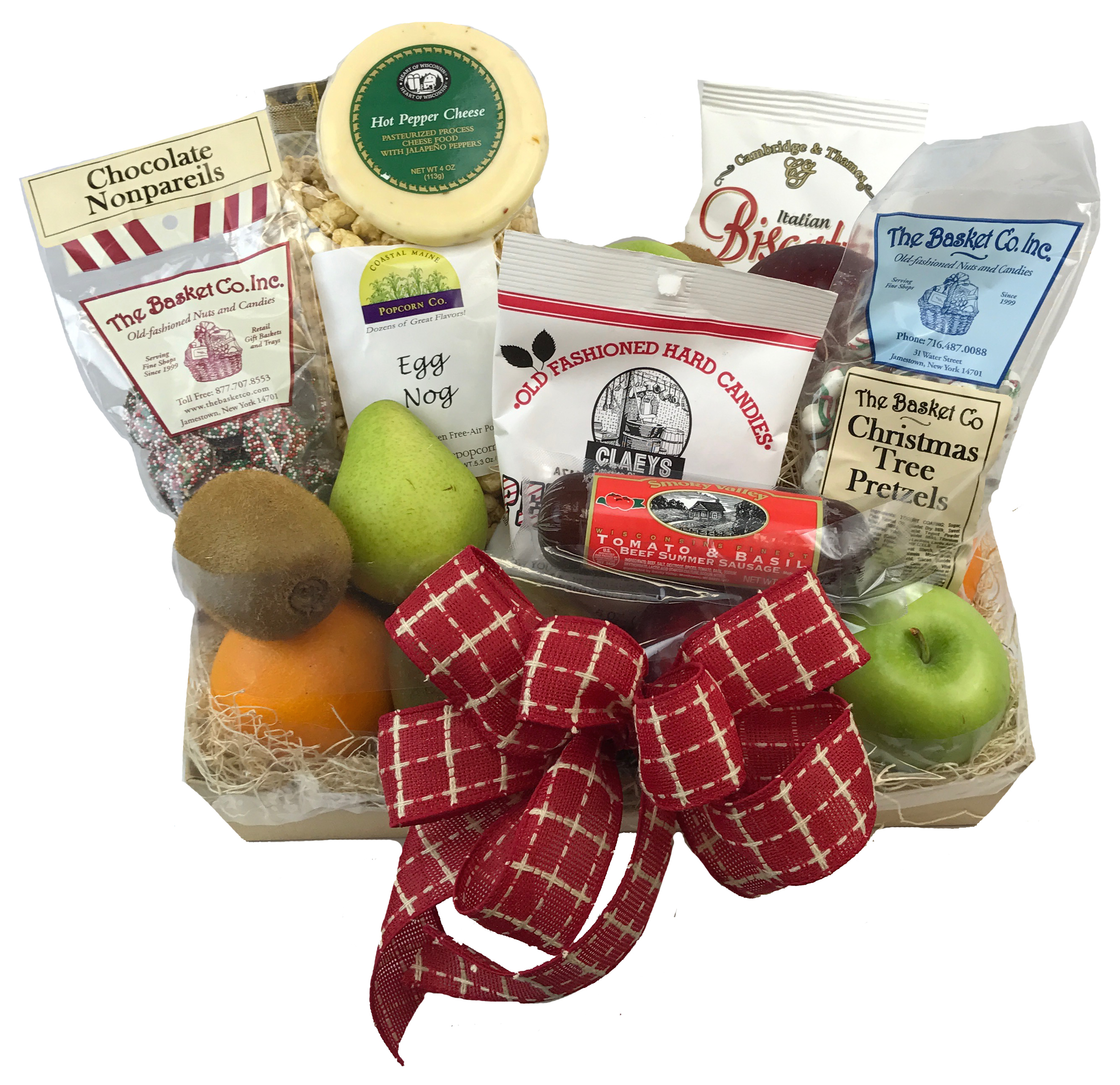 Christmas - Holiday Fruit and Gourmet Basket - Rochester NY Florist ...