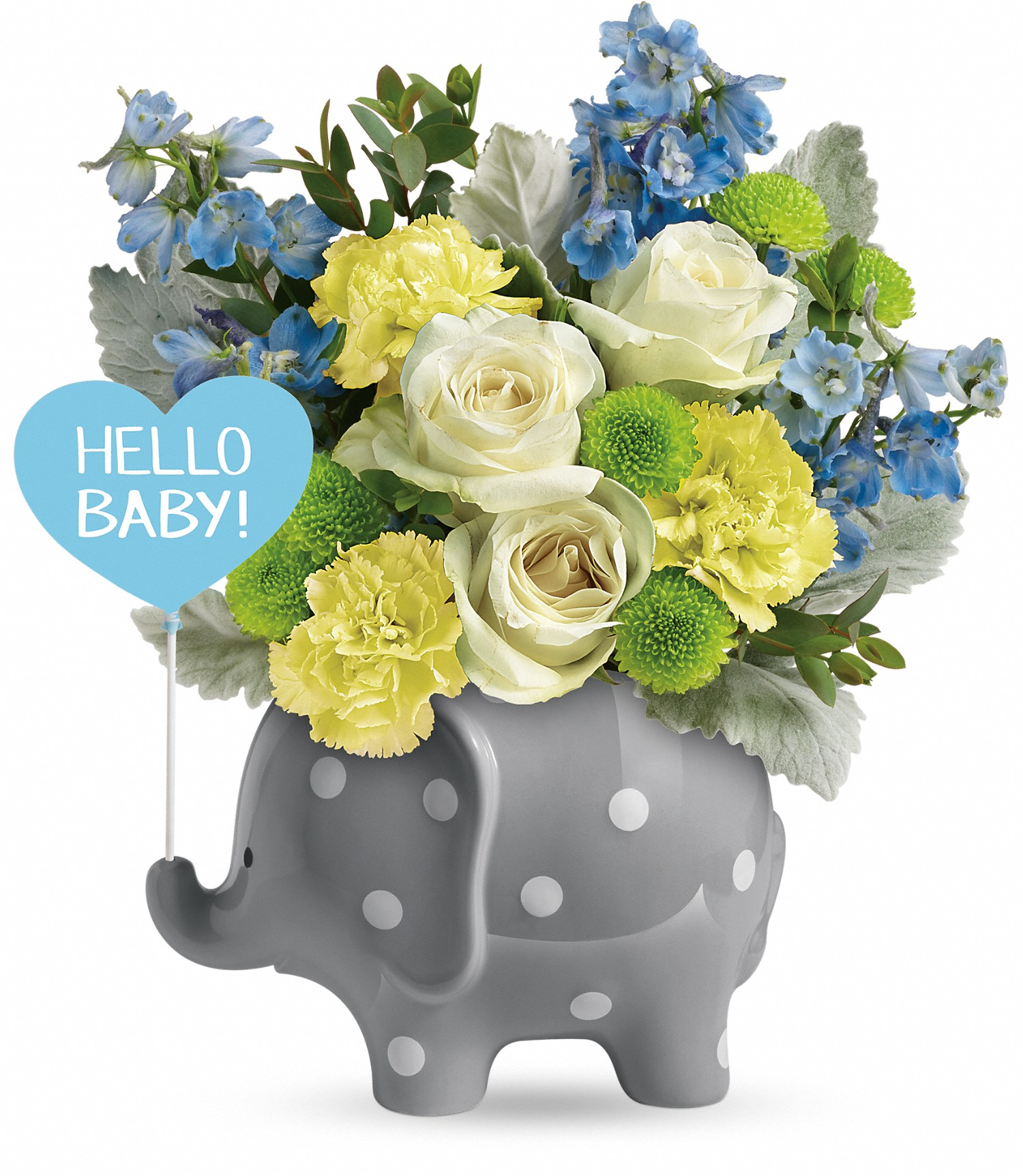 Bestsellers Hello Sweet Baby Blue Rochester Ny Florist